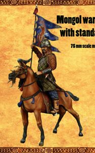 Mongol warrior with standard